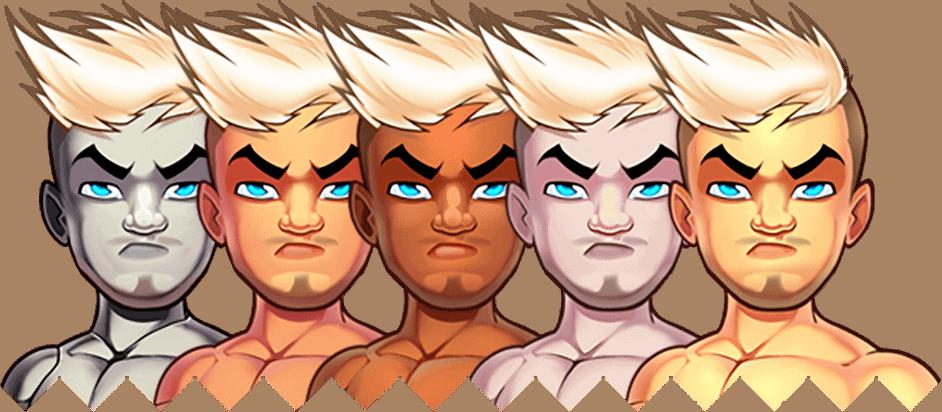 Avatar creator faces