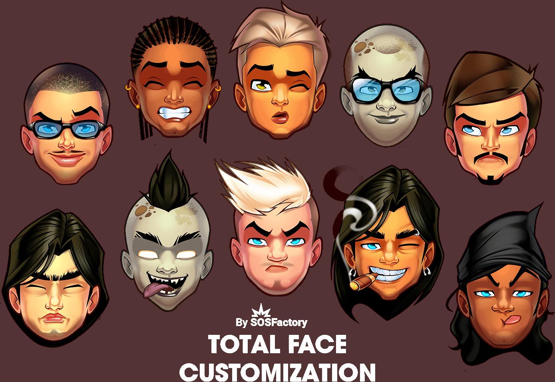 man avatar creator faces
