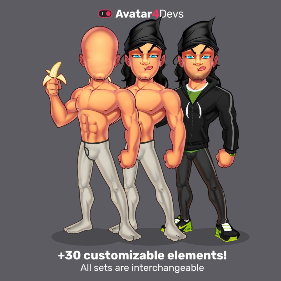 Runner avatar man